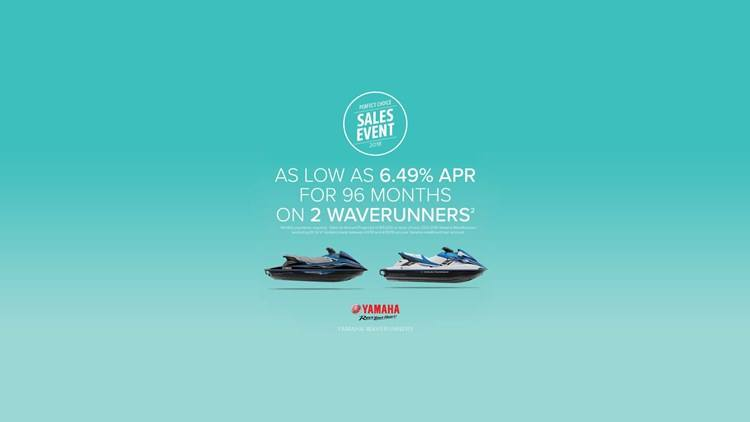 Yamaha Waverunners - Perfect Choice Sales Event - 6.49% APR